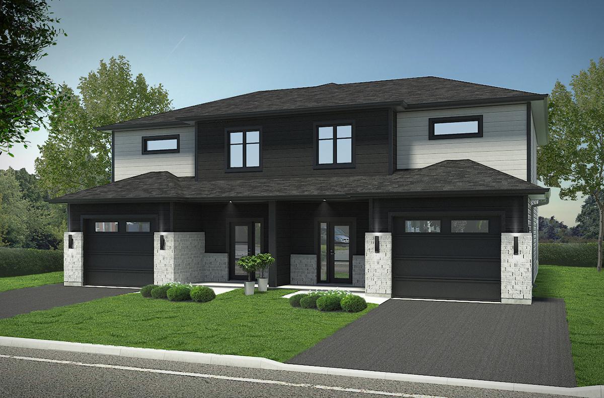 Plan maison jumele par le garage trendy plans with plan maison jumele par le garage trendy - Plan maison jumelee par le garage ...